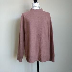 Loft merino wool blend mock neck sweater size L